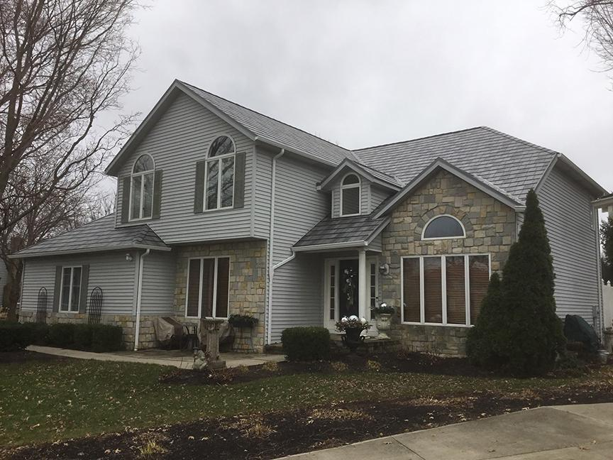 ArrowLine Charcoal Enhanced Roofing from EDCO was selected for this home to give it additional curb-side appeal and the envy of the neighborhood.