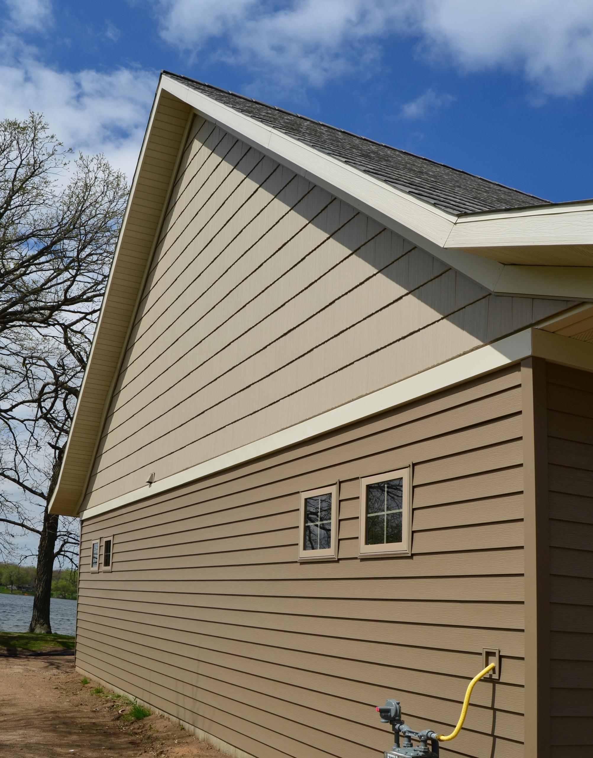 The complete color-coordinated look of EDCO steel products on one home gives the home everlasting beauty