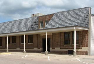 EDCO's charcoal gray/grey steel roofing on a commercial building