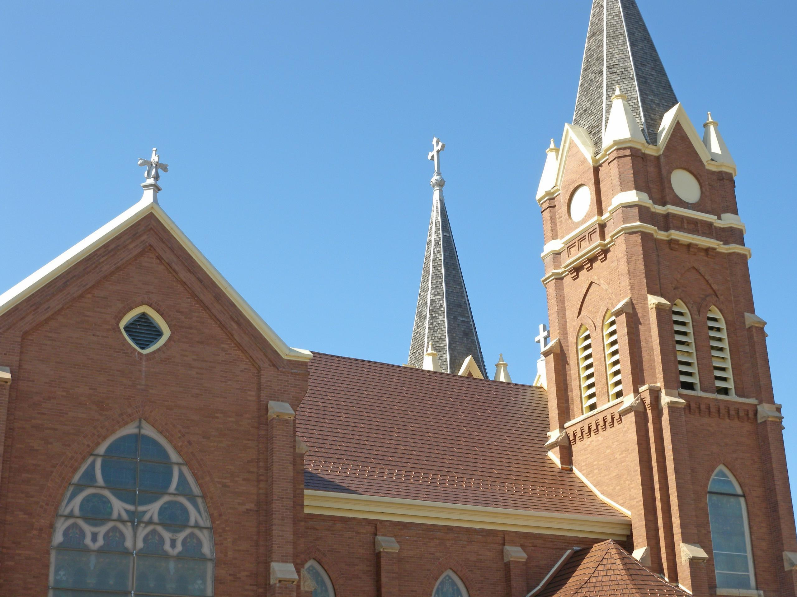To keep with the original architectural detail, St. Phillips Catholic Church in Hankinson, ND, installed Generations Copper HD Roofing from EDCO because of its natural look that will last a lifetime.