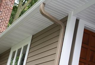 A color-coordinated package of EDCO siding, soffit, fascia and trim, and rainware to complete the look of a home.