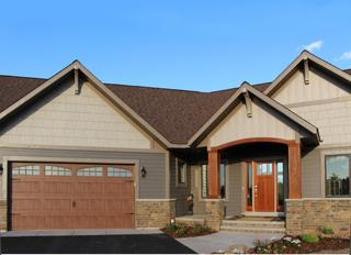 this new home features EDCO's steel siding, sidewall and soffit, fascia and trim to preserve the natural look of the home into the future.