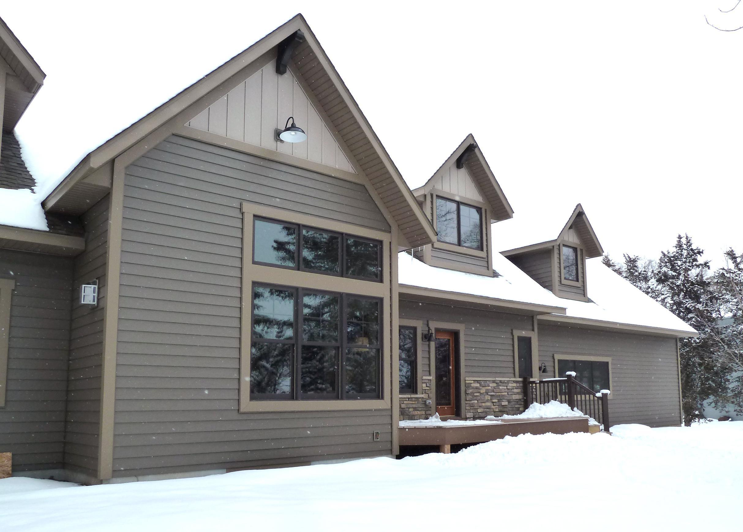 EDCO's steel siding in sandstone finish.