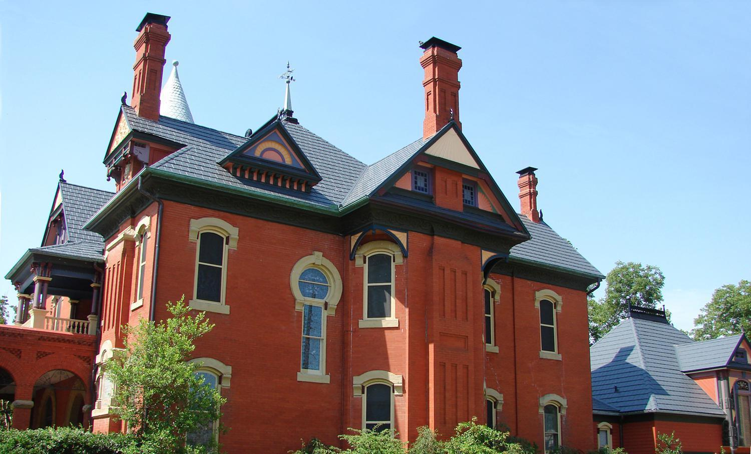 The historical look and charm of these buildings in a small community was preserved with EDCO's steel slate roofing.