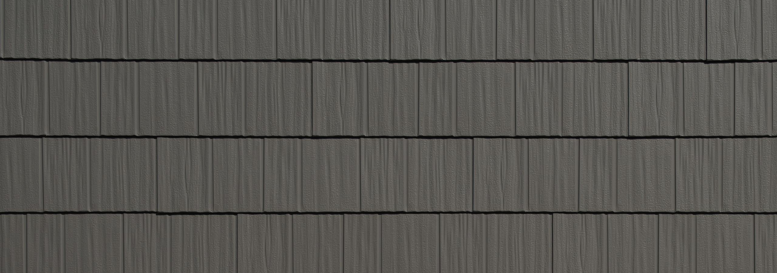 Charcoal gray/grey steel shake roofing