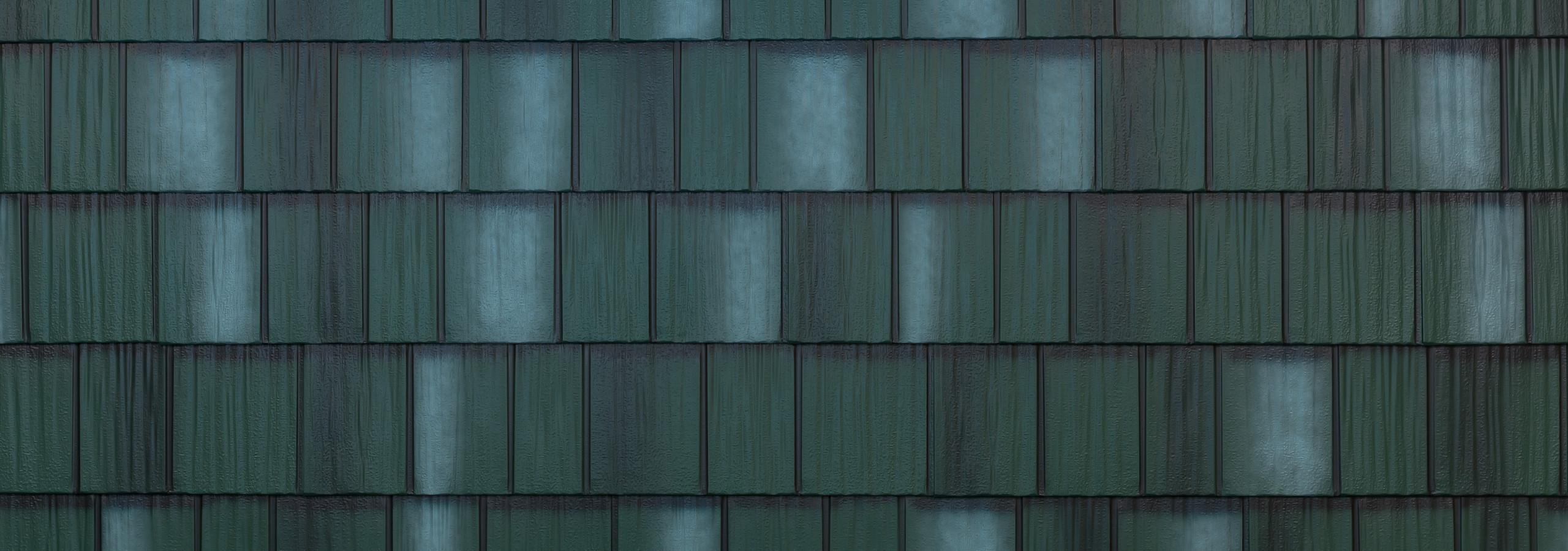 Hartford green steel shake roofing