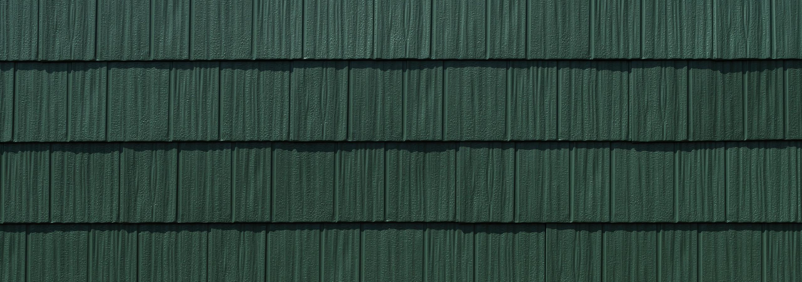 Arrowline shake hartford green steel siding
