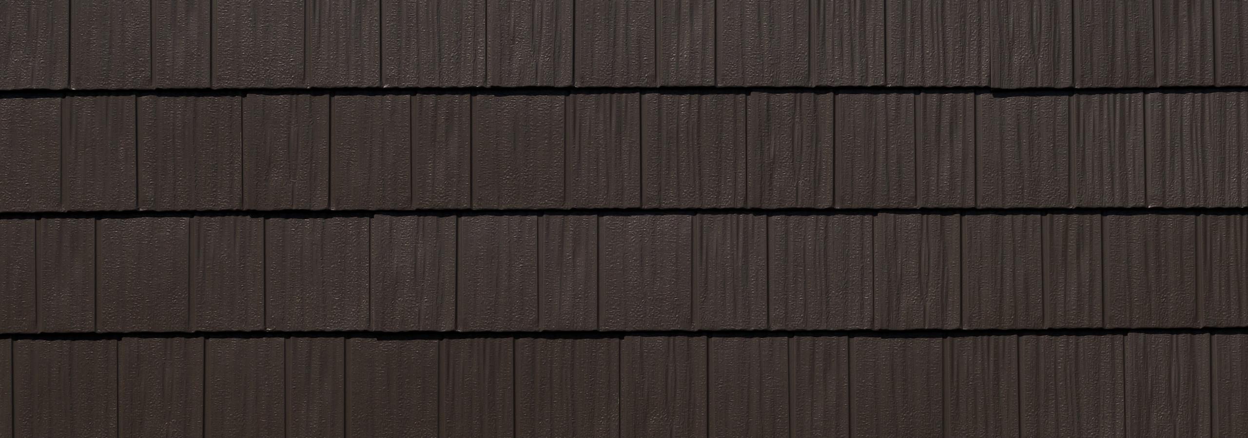 Bronze steel shake roofing