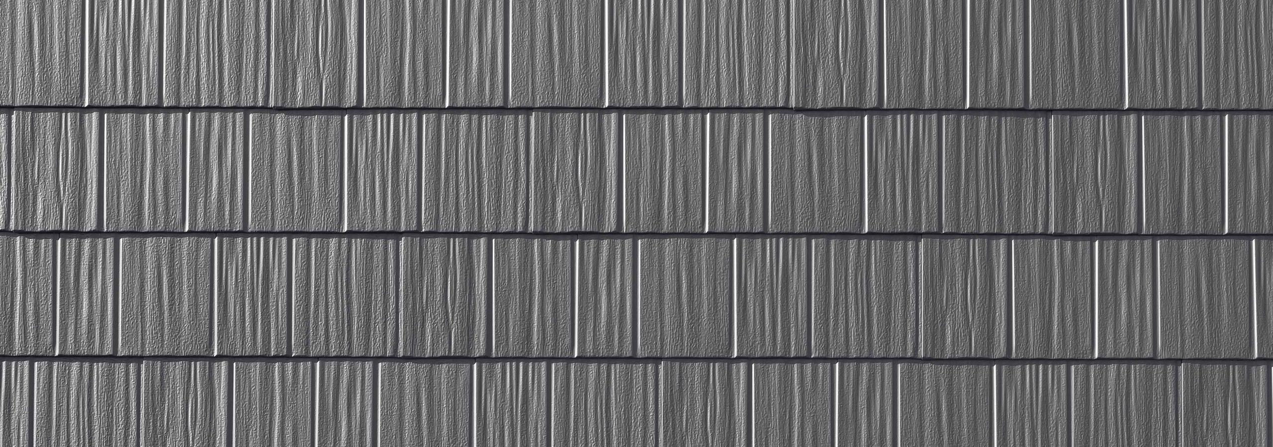 Gray steel roofing