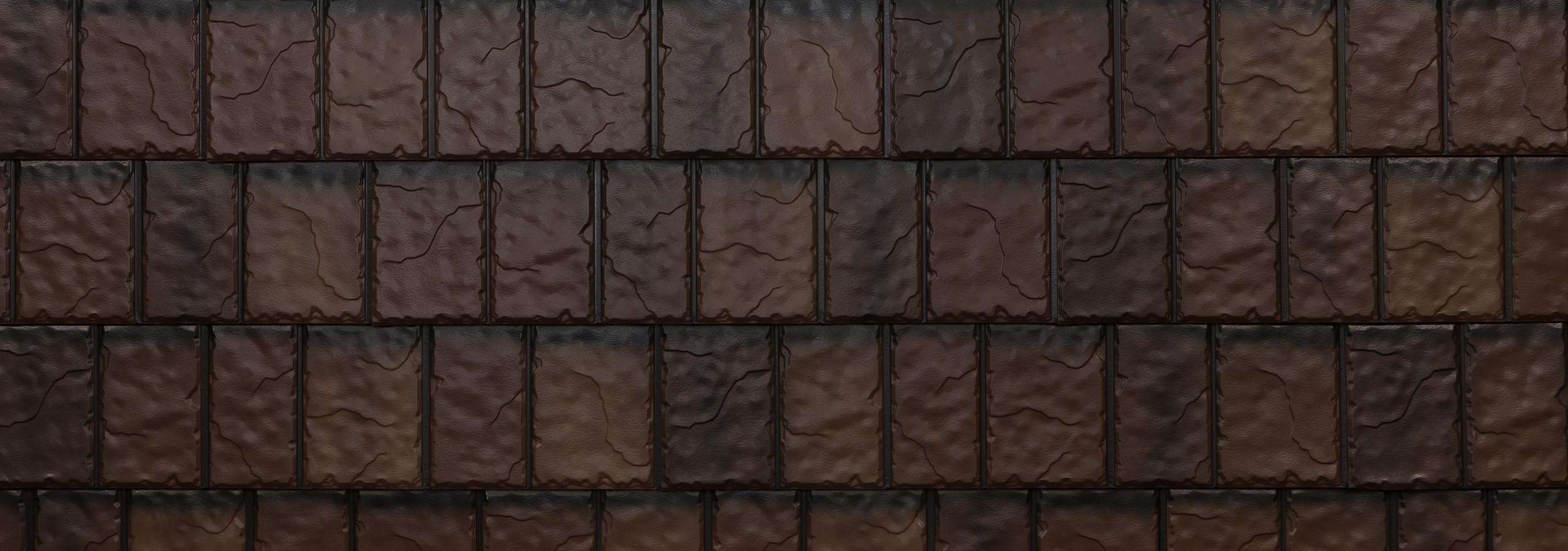 Royal brown steel slate roofing