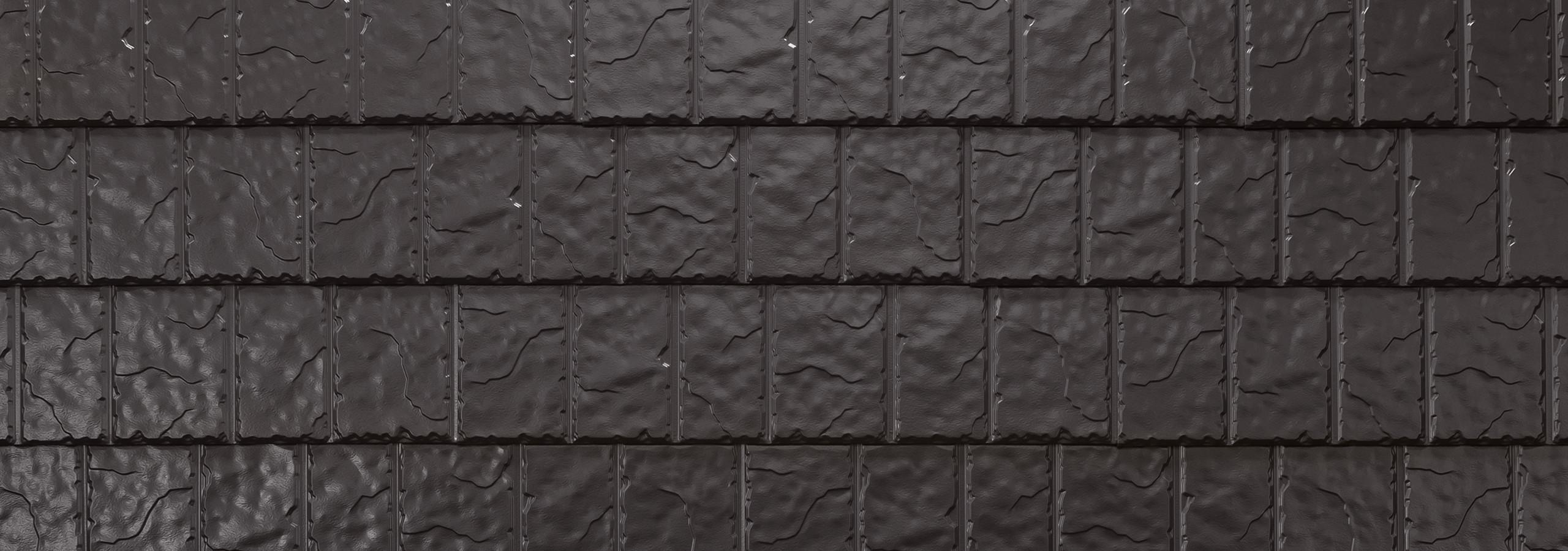 Bronze steel slate roofing