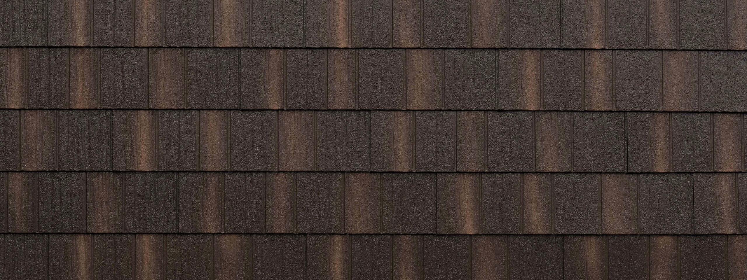 Infiniti aged bronze stone coated shake roofing