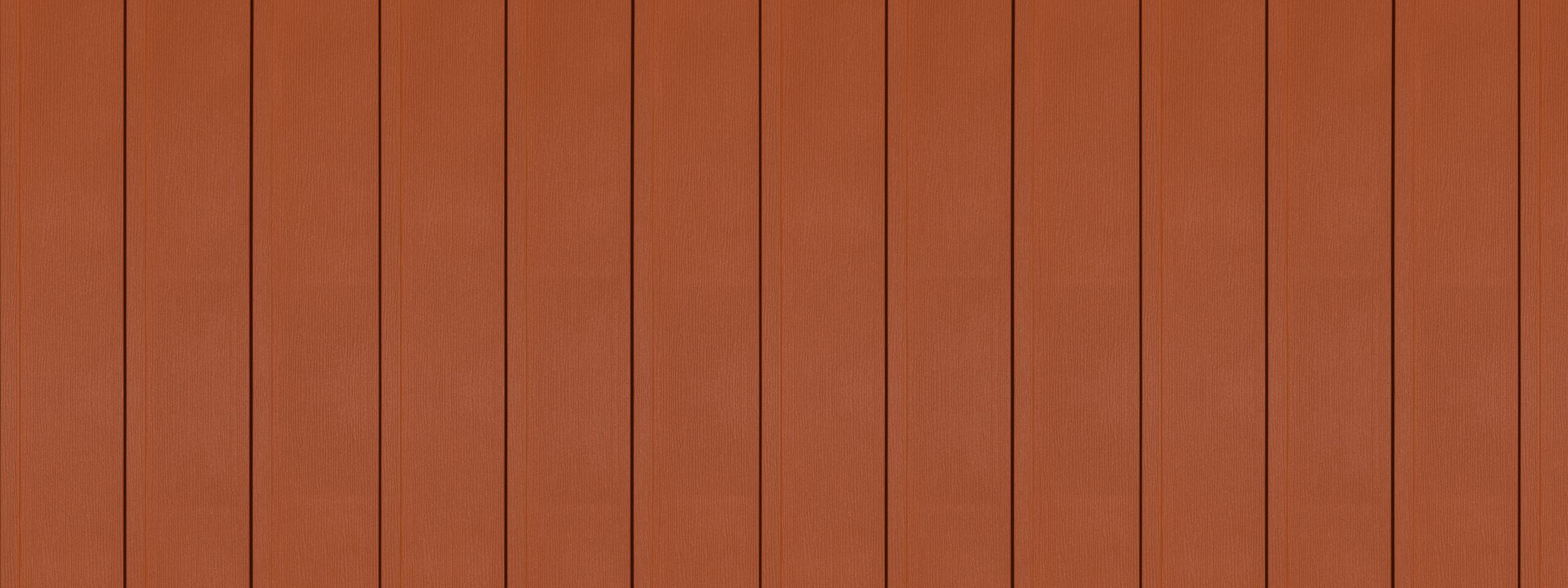Entex Sedona red steel siding