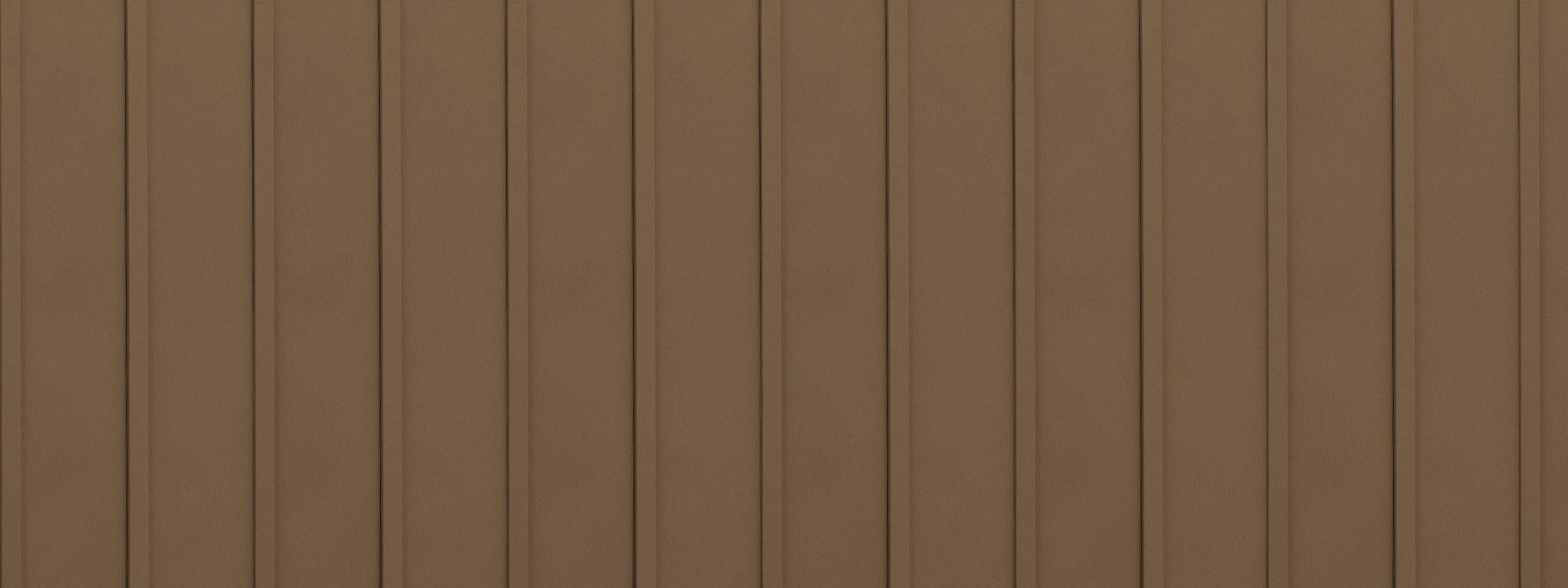 Entex vertical cedarwood board and batten steel siding