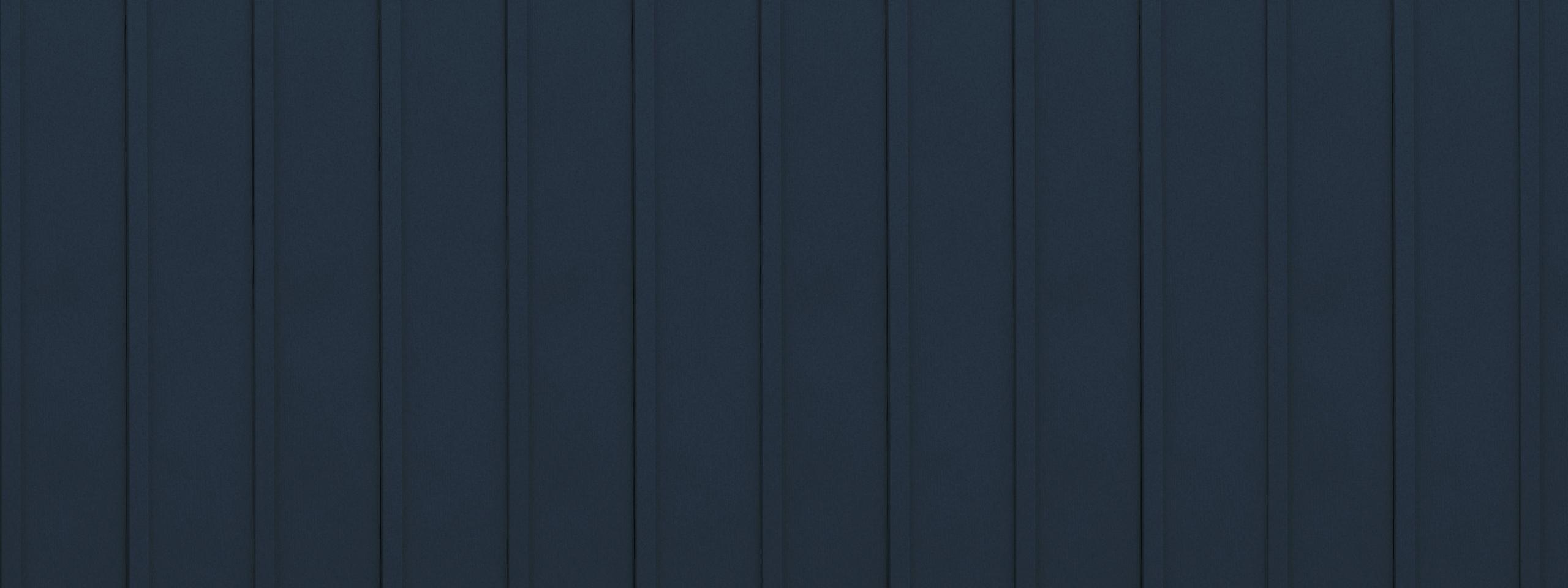 Entex vertical classic blue board and batten steel siding