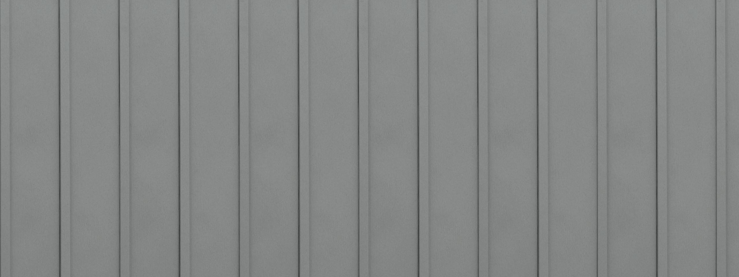 Entex vertical driftwood board and batten steel siding