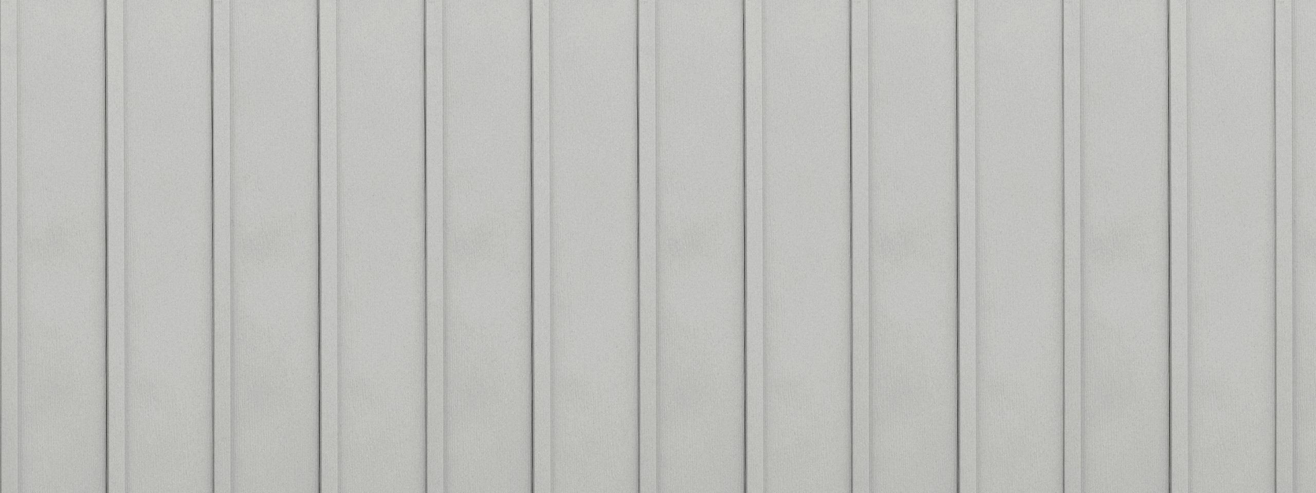 Entex vertical glacier white board and batten steel siding