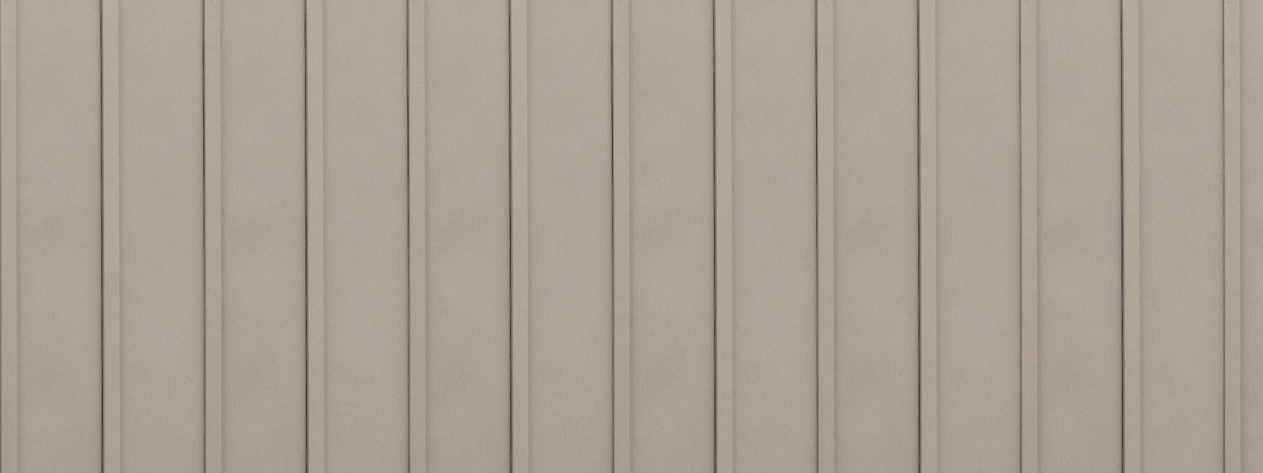 Entex vertical wickertone board and batten steel siding